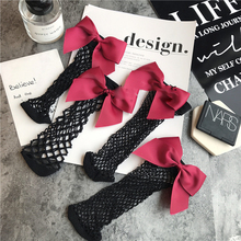 SP&CITY New Fashion Hollow Out low Socks Popular Chic Thin Bow Fishnet Sock Women Punk Cool Female Mesh Short Socks Females
