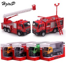 2017 New 1:55 Kids Toys Slide Alloy Toy Cars Fire Engines Garbage Truck Metal Toy Cars Model Gifts for Boys Children Wholesale