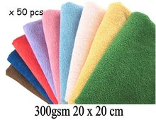300gsm 20cmx20cm Microfiber Cleaning Cloth,Wiping Rags,Microfibre Lens Screen Eyeglass Camera Towel,Household Cleaning Products(China)