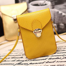 Lady's PU Leather Universal Mobile Phone Bag Case Cover Pouch Girl's Crossbody Handbag With Straps For Apple iPhone 4 4s 5 6 6S(China)