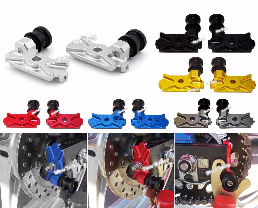 Motorcycle CNC Aluminium Swingarm Swing Arm Spool Slider Adapters Mounts For 2014 2015 2016 HONDA CB300F CB 300F CB 300 F<br>