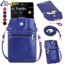 Premium PU Leather Case w/ Detachable Shoulder Strap for Vertex Impress - XXL XL Lux, Mars, Style, Moon, More, Tor, In Touch 4G(China)