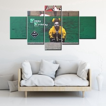 "Cool Poster Breaking Bad TV Play Wall Art Graffiti ""Happy Birthday"" Canvas Painting for Office Room Decor High Quality Artwork"