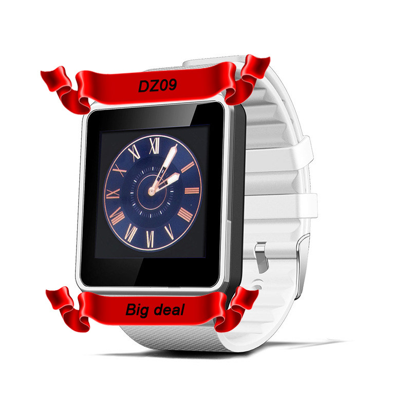 DHL 10pcs DZ09 Smart Watch Clock Sync Notifier Wit...
