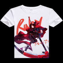 RWBY Ruby digital printed hot anime t shirt clothes RWBY Ruby t-shirt casual women tshirt