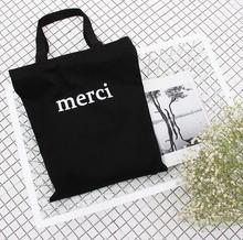 Black Foldable Storage Bag Shoulder Bags Ladies Hand Bag Cute Portable Reusable Lunch Supermarket Eco white Shopping Bag women(China)