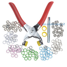 100 Sets 9.5mm Prong Ring Press Studs Snap Fasteners Poppers Dummy Clip + Pliers(China)