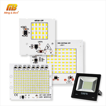 [MingBen] LED Lamps SMD 2835 Chip Beads Smart IC 220V Input 10W 20W 30W 50W 90W DIY For Outdoor FloodLight Cold White Warm White(China)