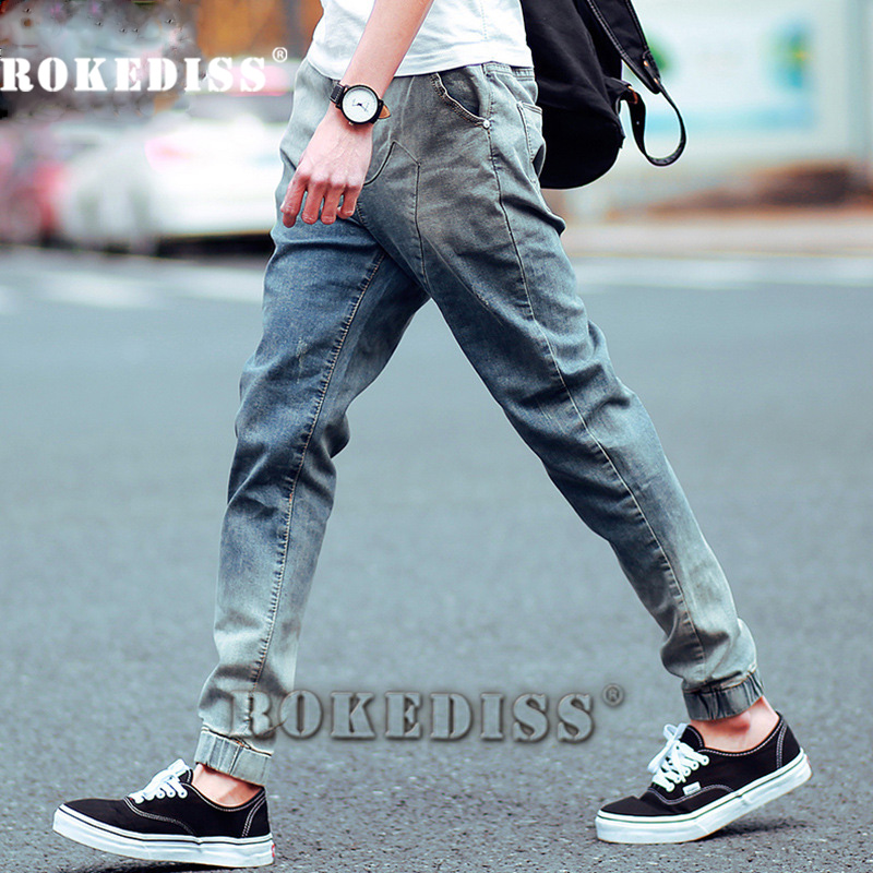 Men Jean New 2017 Slim Skinny Denim Biker Pant Boyfriend Hip hop Trousers Bule Color Fashion Brand Jeans For Male E035Одежда и ак�е��уары<br><br><br>Aliexpress