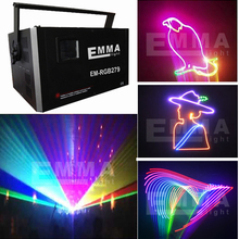 mini 5.5w rgb full color laser 3d/laser image/ laser advertising projector(China)