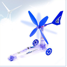 JETTING Diy Assembled Toys Wind Power Car Model Children'S Educational Scientific Experiment Green Energy Removable Car Toy