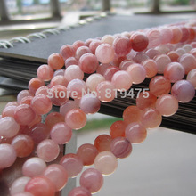 "16"" Full strand 6mm 8mm 10mm Natural Stone beads Charm Beads Pink Color for jewelry making"