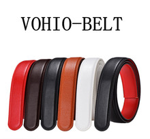 VOHIO woman belt leather men's leather belt body embossed with Article automatic black Red brown width 3.0cm riem womens belts