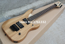 Hot sale factory custom natural wood color floyd rose electric guitar with rosewood  fingerboard,can be customized as request
