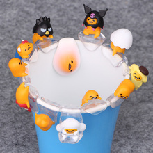 12PCS/SET Gudetama Egg Putitto Series Cup Cute PVC Action Figure Doll Collection Model Toy Doll Gifts Cosplay(China)