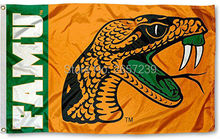 Florida A&M Rattlers FAMU University Flag 3x5FT NCAA banner 100D 150X90CM Polyester brass grommets custom66,free shipping(China)