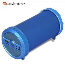 Rosimee Outdoor Wireless Bluetooth Speaker Sports Portable Subwoofer Deep Bass Bike music Speakers FM Radio TF USB Mp3 player(China)