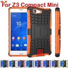 LELOZI Armor Rugged Hybrid Hard PC TPU ShockProof Back Case kryty carcasa Cover Bag For Sony Xperia Experia Z3 Z 3 Compact Mini(China)