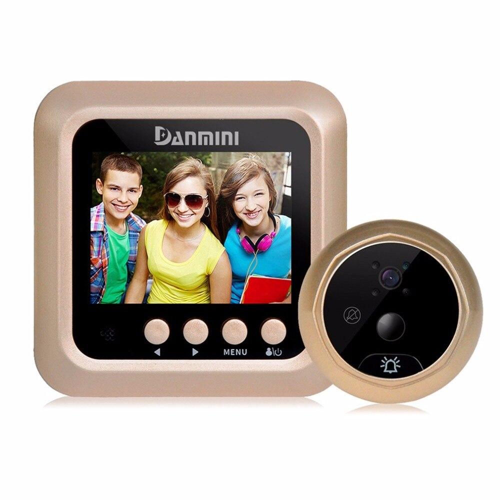 Danmini Q5 2.4 Inch TFT Color Screen Display Night Vision Camera Video Peephole Camera Visual Doorbell No Disturb Viewer<br>