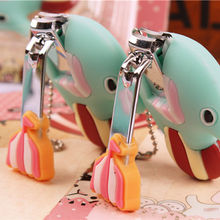Professionl Manicure Pedicure Care Scissors Cute Elephant Cartoon Nail Clipper Cutter Trimmer Fashion Nail Clippers