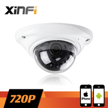 XINFI HD 720P indoor elevator camera CCTV IP camera Surveillance network Camera for elevator or ceiling 1.0mp ONVIF remote view