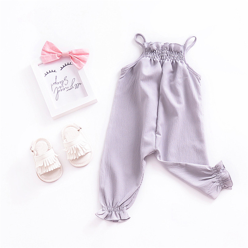 Toddler Kids Baby Girls Strap Romper Jumpsuit Harem Trousers Summer Clothes NDA84L09 (3)