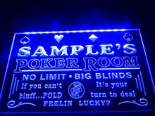 DZ005- Name Personalized Custom Poker Casino Room Beer Bar  LED Neon Light Sign