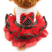 Armi store Spring And Summer Polka Dot Tutu Dog Dresses Clothes Princess Dress For Dogs 6071002 Pet Sweetheart Skirt S, M, L, XL(China)