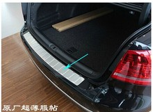 High quality rear Sill Car bumper Protector stainless steel styling for 2011-2013 Volkswagen Passat B7(China)