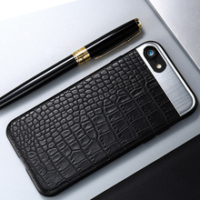 KISSCASE Fashion Phone Cases for iPhone 7 Plus Case Luxury PU Leather Metal Hybrid Back Cover Coque for iPhone 7 6 6S Plus Case(China)