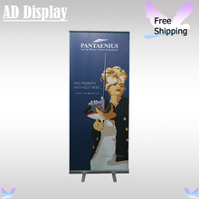 Wholesale 80*200cm Standard Exhibition Booth Portable Full Aluminum Roll Up Display Stand With Fabric Banner Printing(Optional)(China)