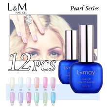 12 Pcs Free Shipment Lvmay Brand Color Gel Nail Polish Uv Led Gel Polishes Nail Suppliers Manufacture Soak Off Bulk Package