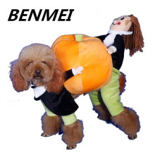 BENMEI Funny Pumpkin Dog Clothes Costume Best Quality Warm Dog Coat Jacket Pet Dog Clothing Pet Clothes For 2-9kg Dog(China)