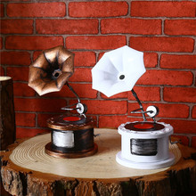 Vintage Iron Gramophone Classic Decoration Model Gift Craft For Birthday Gifts Home Decoration Disc Phonograph Metal Craft