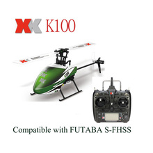 Original XK Falcon K100 6CH 3D 6G System Brushless Motor RTF RC Helicopter