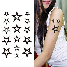 10cm Wrist Flash  Fake Tatto stars Design Waterproof Temporary Tattoo Sticker For arm Body Art Women  2016 fashion