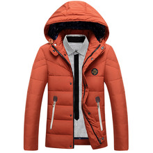 Jaqueta Masculina 2017 New Winter White Goose Down Jacket Men 3XL Thick Warm Hooded Bomber Jacket for Men Fashion Casual Coat