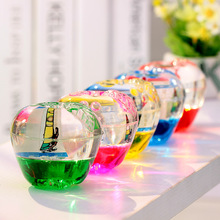 Colorful oil apple hourglass decoration student children kids holiday gift with pencil hole Desk furnishings decor crystal Craft