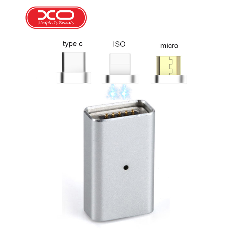 XO Magnetic Conver Micro USB Charging TO 3IN1 Type-c/iOS/Android Magnetic Adapter Galaxy S7plus Xiaomi Mi6 Phone 7plus