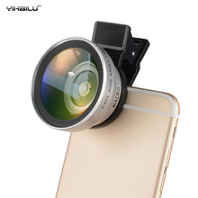 Buy YiHaiLu 2 1 0.45X Wide Angle Lens Clip 37mm Thread 15X Macro High Definition Mobile Phone Lens iPhone Samsung for $14.07 in AliExpress store