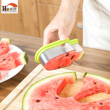 CUSHAWFAMILY 1 x Ice cream shape watermelon slice model Fruit Knife Fruit Cutter Slicer Cooking Tool Gadgets home Kitchen Helper(China)