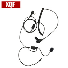 XQF Advanced Unilateral headphone Mic Finger PTT For Motorola Radio CLS1110 GP88 GP2000 GP300 For HYT TC500 TC600 Walkie Talkie(China)