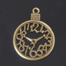 Hot Fashion 29x38mm  6Pcs/lot  Antique Bronze Plated Pocket Watch Alloy Charms Pendants For DIY Jewelry Accessories