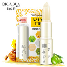 BIOAQUA Natural Aloe Honey Moisturizing Lip Balm Colorless Refine repair lip wrinkles For Woman Winter Lip Care(China)