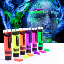 YZWLE 6 Colors Neon Fluorescent UV Body Paint Face Painting Luminous Acrylic Paints Art for Party Halloween Make Up