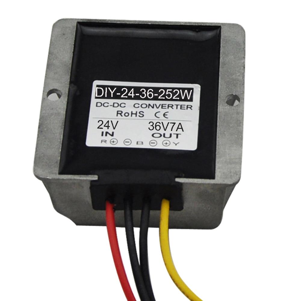 DC Converter Module 24V (18V-33V) Step up to 36V 7A 252W Car Power Adaptor Waterproof  Regulator RoSH CE<br><br>Aliexpress