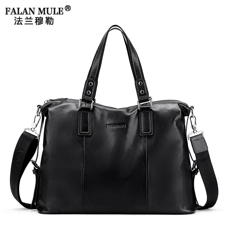 FALAN MULE Mens Messenger Bags Genuine Leather Shoulder Bag Famous Brand Men Business Men Crossbody Bag Computer Travel Bags<br><br>Aliexpress
