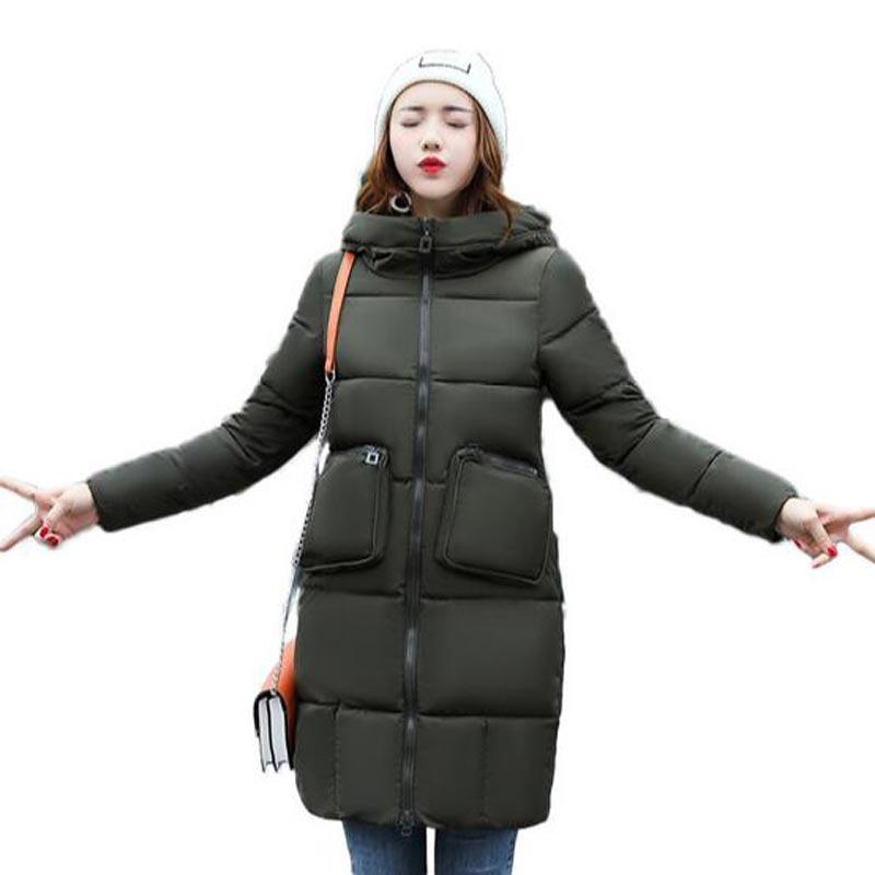 High Quality Woman Parka Winter Jacket long Coat with Hood Women Warm down Cotton Coats Hot Sale New Winter Collection QH0385Îäåæäà è àêñåññóàðû<br><br>