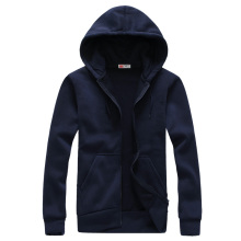 Men's  Fashion Long Sleeve Hip Hop Hoodie With a Hood Cardigan Lovers Sweatshirt Navy Blue Tute Sportive Uomo