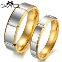 Fashion Women Men Titanium Steel Couples Finger Rings Vintage Gear Anillos Punk Style Gold Color Never Fade Fine Jewelry R296